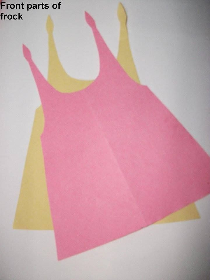 Cut Front part of Frock (2 pieces)