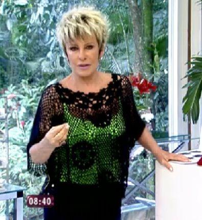 Crochetemoda: Ana Maria Braga - Blusa de Crochet