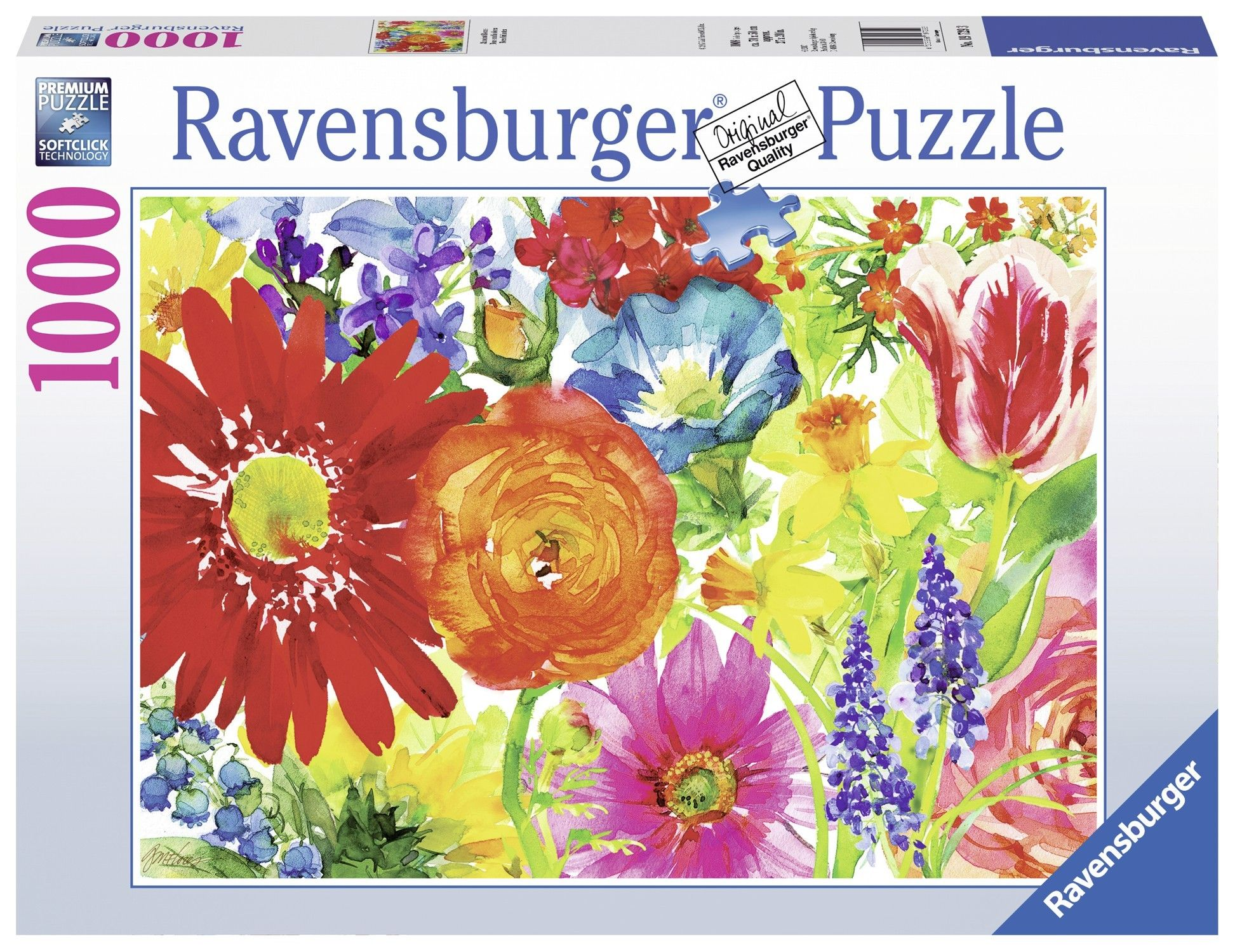 Ravensburger Puzzle 1000pc Abundant Blooms 1000 Piece Jigsaw