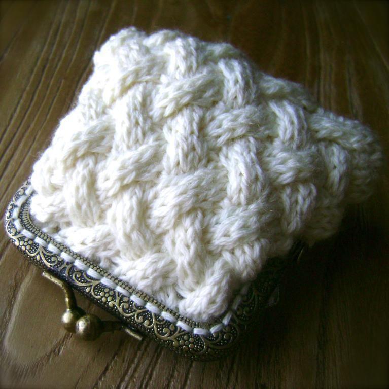 Tiny Coin Purse Knit Purses Bags Pinterest Knitting Purse