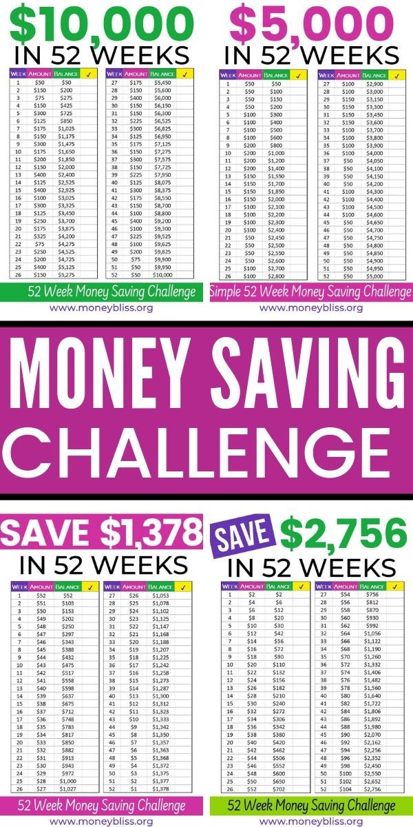 Handpick the 52 Week Money Saving Challenge for You | Money Bliss