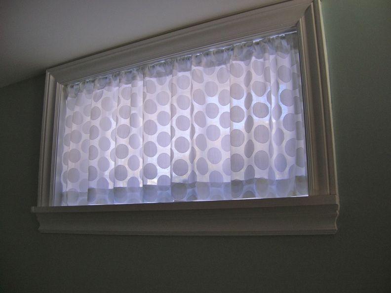 Basement Window Curtain Salle De Bain Sans Fenetre Rideaux