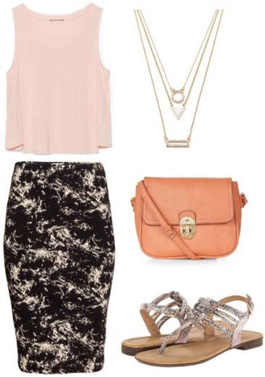 909448e99 Fabulous Find of the Week: H&M Marble Print Skirt | Outfit ...