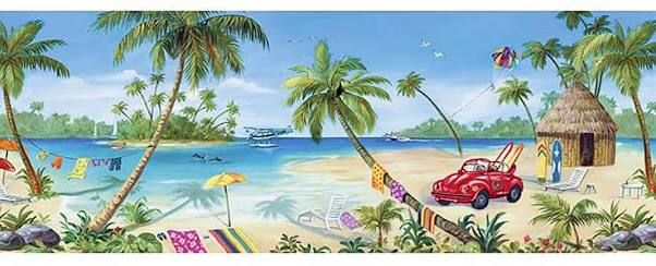 tropical wall mural Google Search Palm trees Pinterest Wall