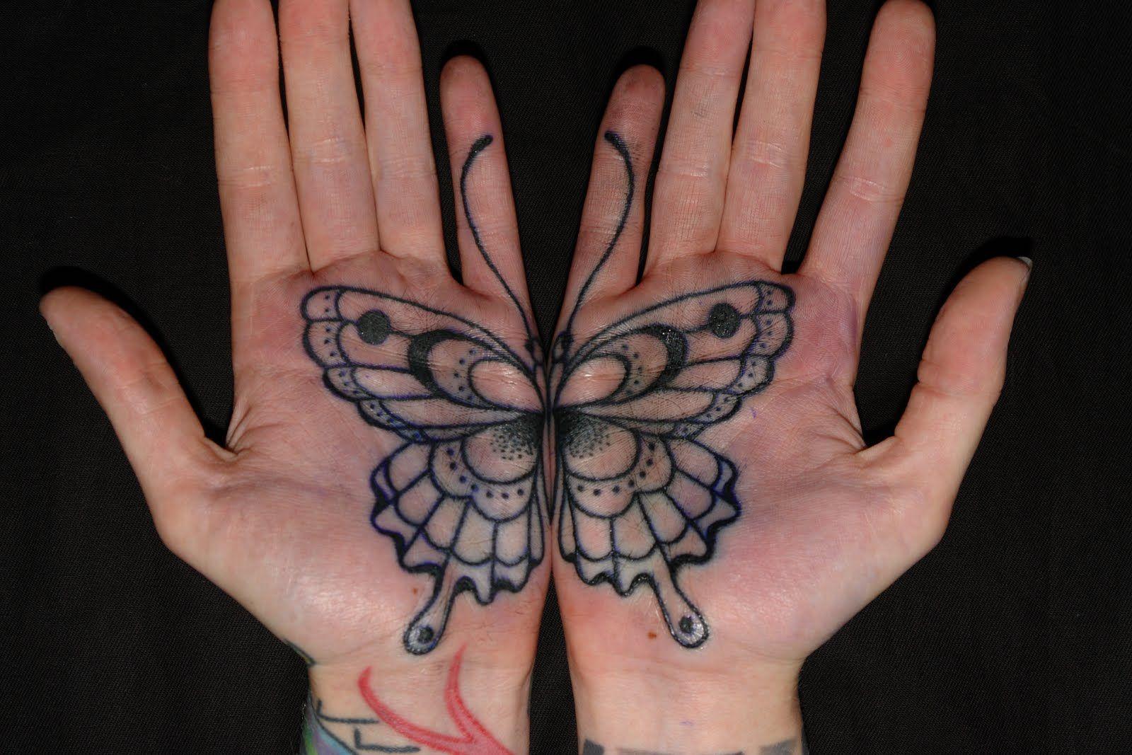 Butterfly palm tattoo gorgeous tattoos pinterest palm tattoos