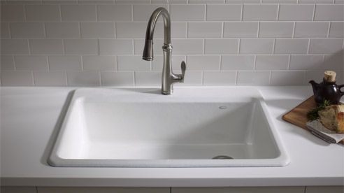 kitchen sinks top mount kohler riverby kitchen sink for the home 6094