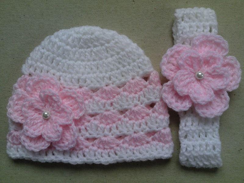 Mützen - Häkeln Baby Kind Mütze und Stirnband - ein Designerstück ...