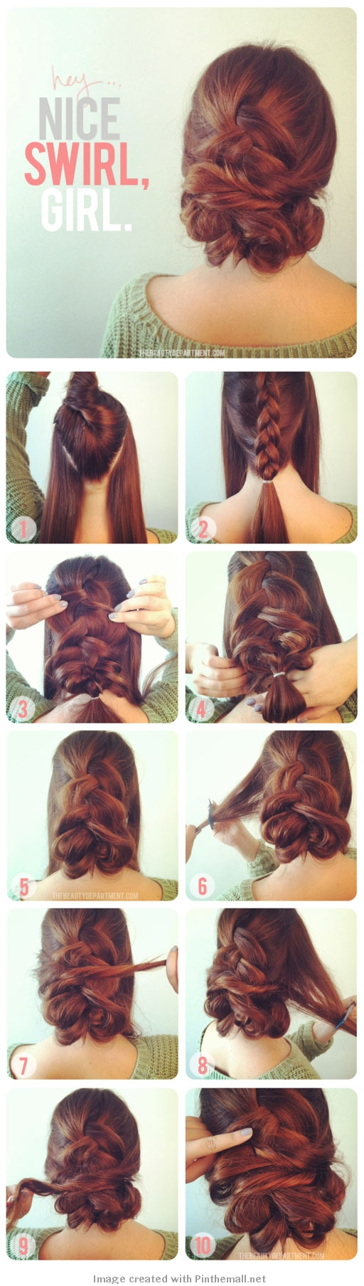 Braid and Swirl updo with picture tutorial.