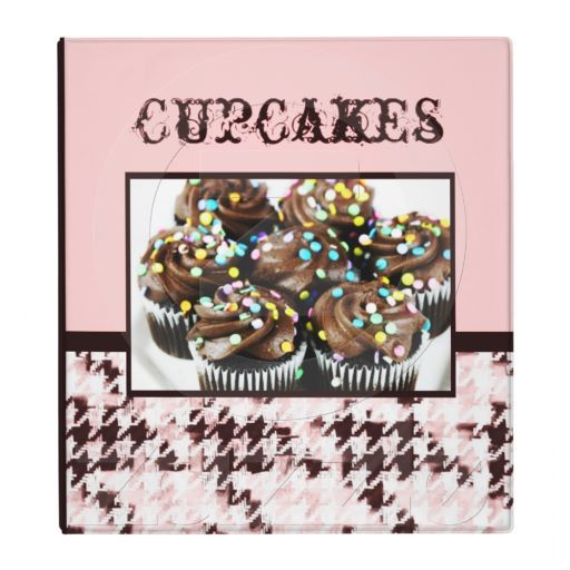 Yummy looking cupcakes baking and decorating recipe binder