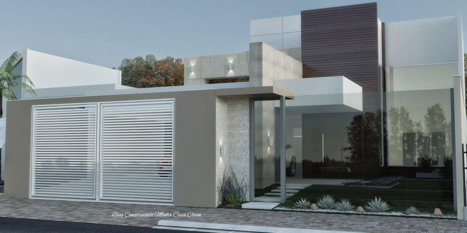 Fachadas de casas com muros de vidro architecture - Muro exterior casa ...