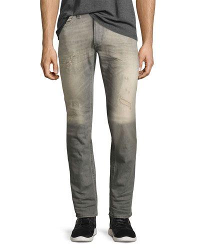 dee6b81e DIESEL Thavar 084Dv Distressed Skinny Jeans, Gray. #diesel #cloth ...