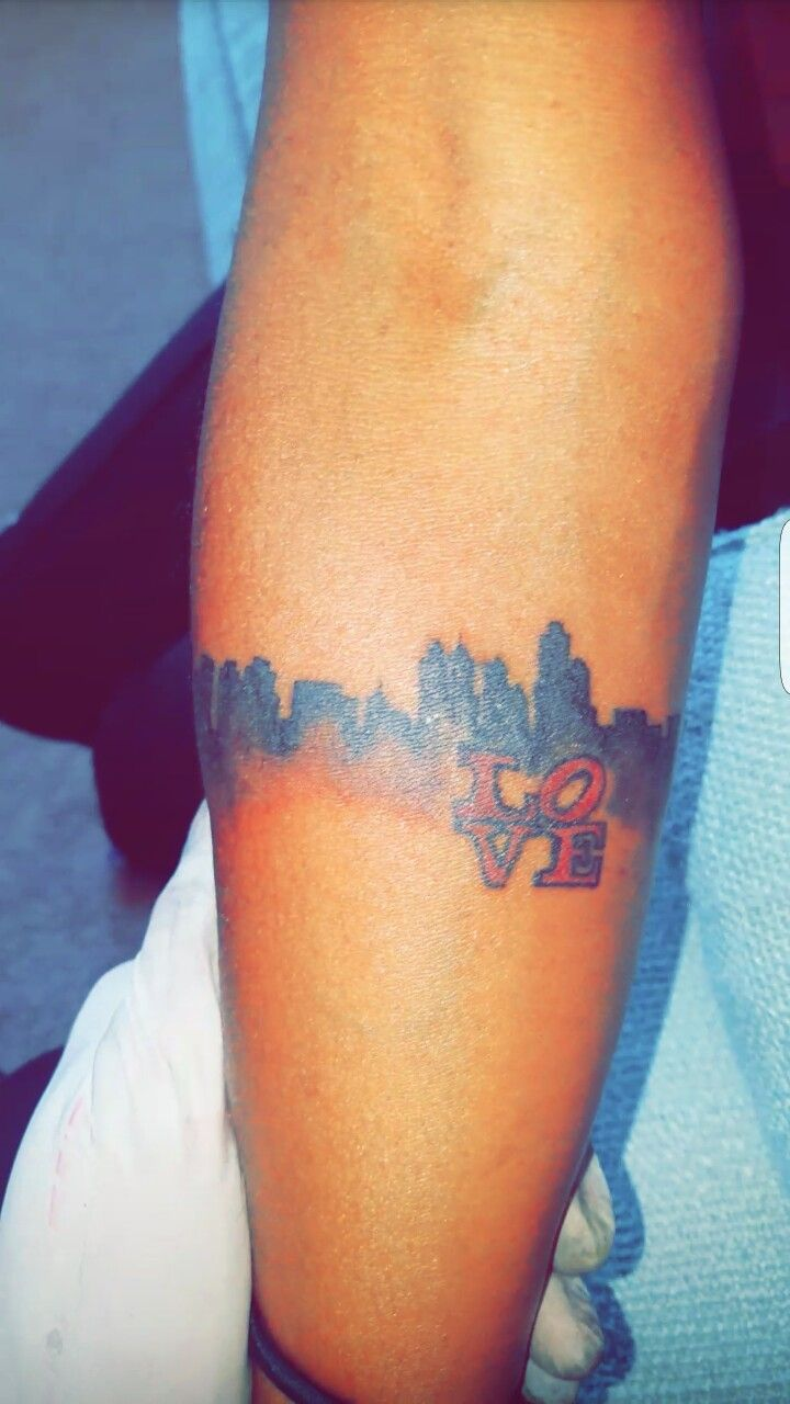 Philadelphia Skyline Skyline Tattoo Tattoo Philly Tattoo Philly