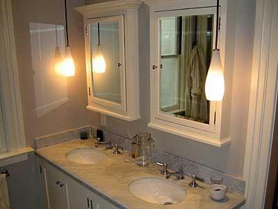 Medicine Cabinets Not Recessed With Crown Mold Cabinet Design Traditional Bathroom Bathroom Mirror