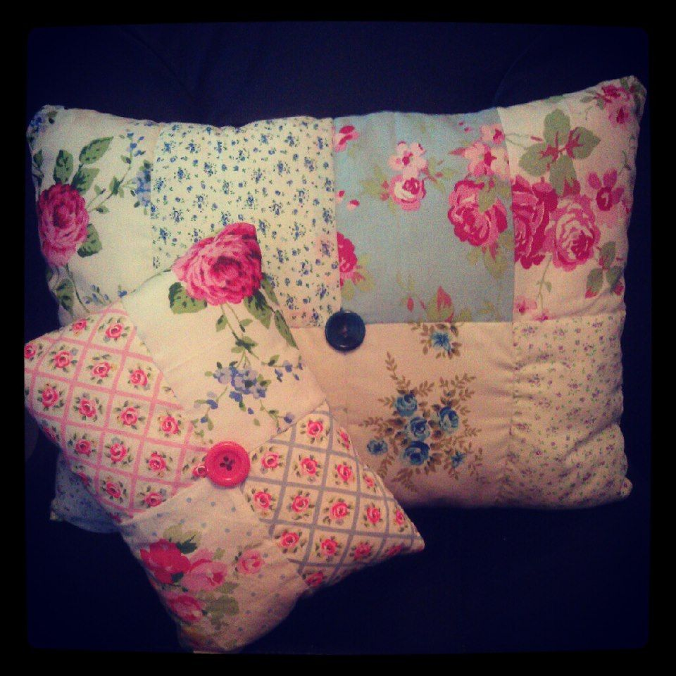 A little Cath Kidston inspired patchwork cushion set I made