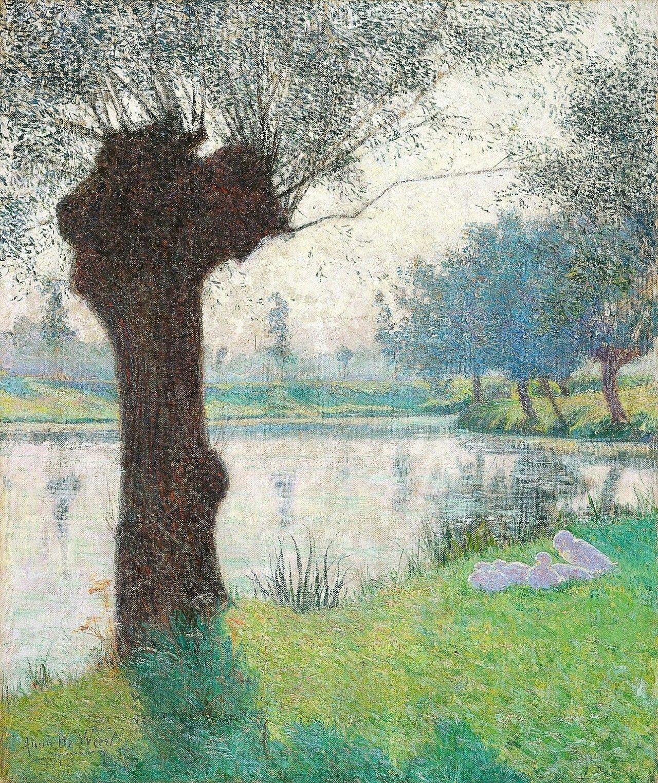 Anna De Weert (Belgian, 1867-1950),Heure matinale[Early Morning], 1898. Canvas, 73 x 61 cm.