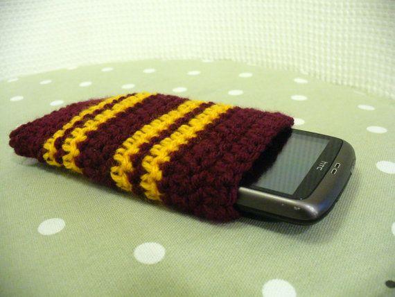 Harry Potter Phone Sock - Gryffindor crochet