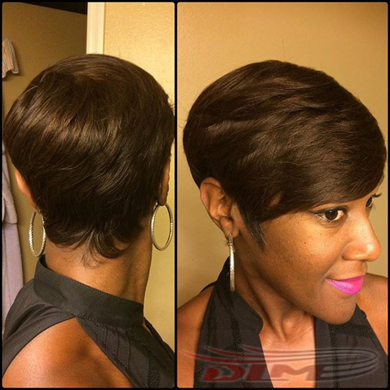 Hot 2 4 27 Pieces Short Hair Weave Unprocessed Human Extension Straight P