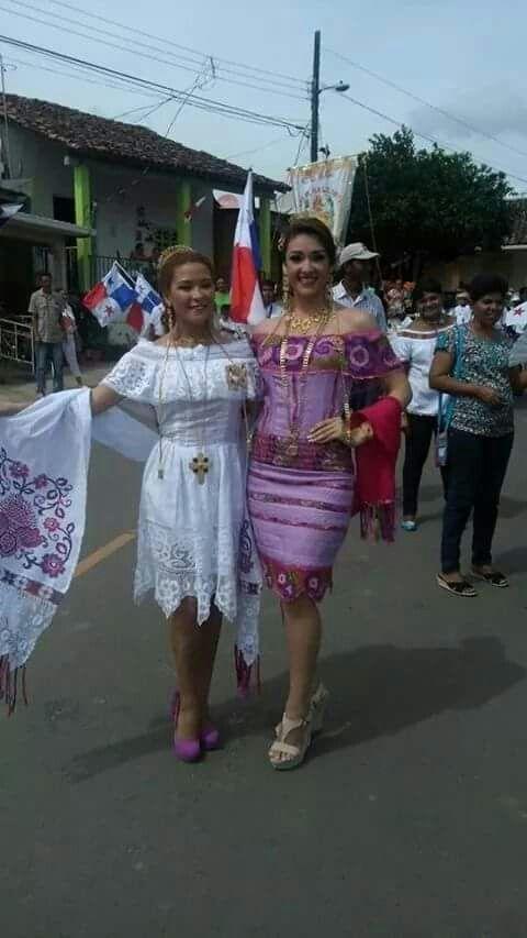 Ves4555 Vestidos Estilizados Panameños Vestidos Tipicos