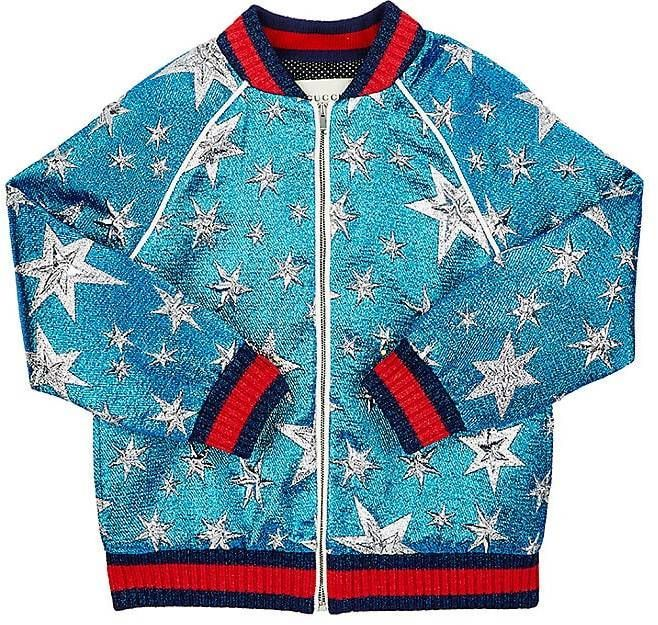 4fe843b691ceb Gucci Kids  Starry Sky Sequined Bomber Jacket