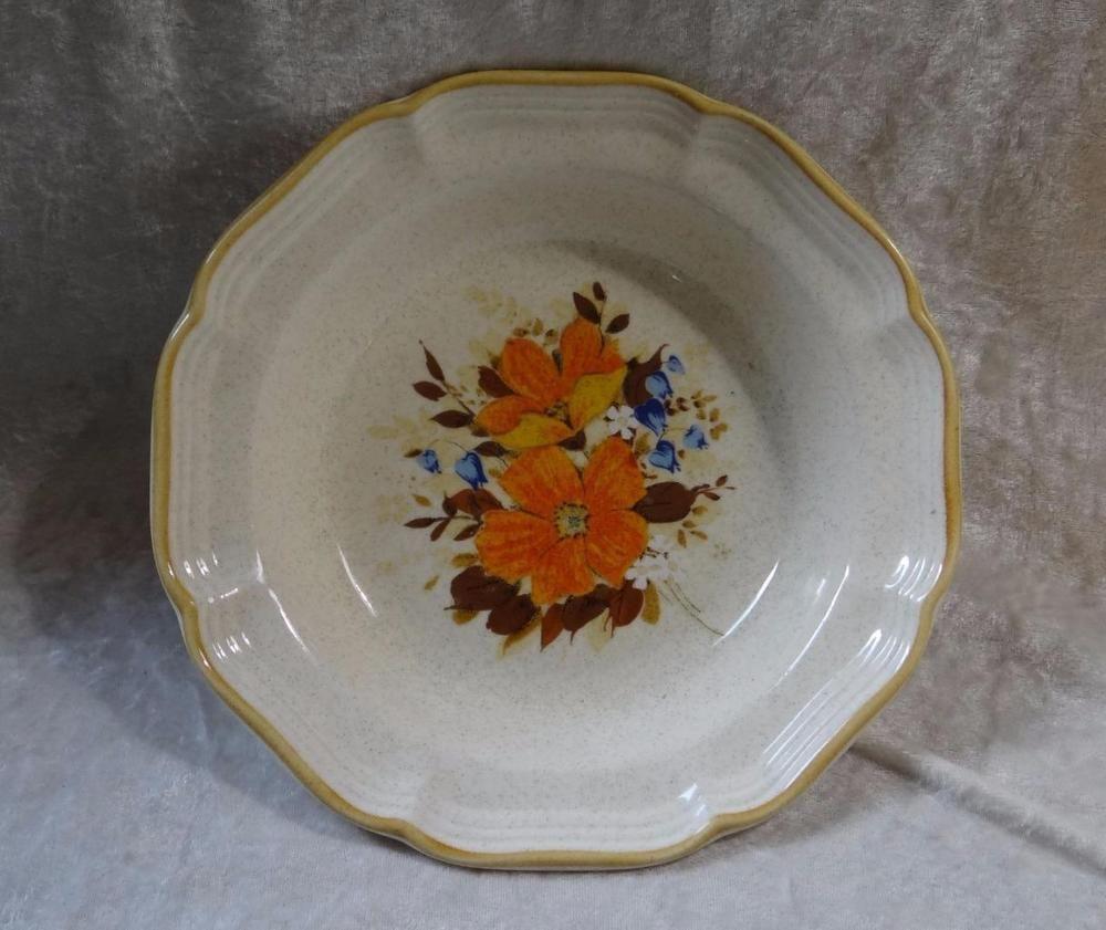 Vintage Mikasa Garden Club EC 452 FlowerFest Stoneware Bowl #Mikasa