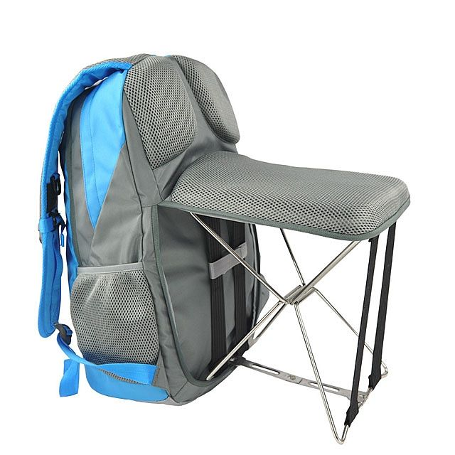 An Incredibly Handy Backpack That Comes With Its Own Zip Out Portable Folding Chair Fishing Backpack Anti Theft Backpack Bags