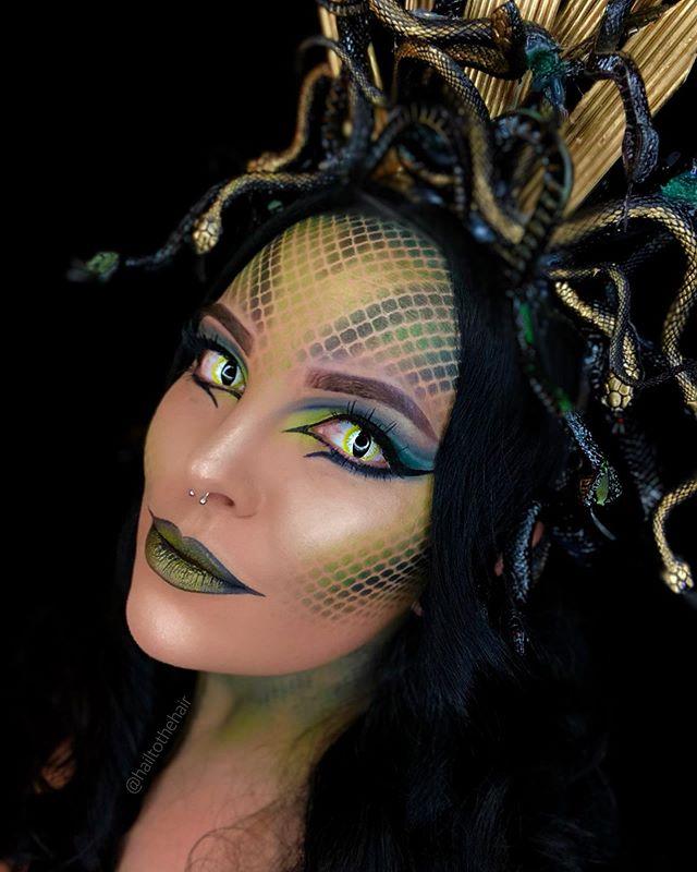 Instagram | Fasching schminken, Schlangen kostüm