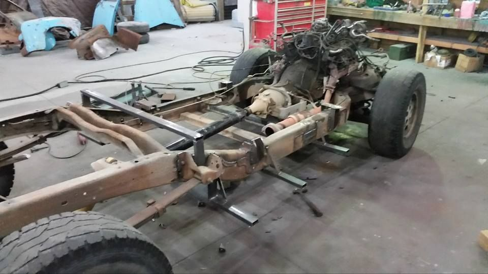 Chev Chevy Chevrolet Advanced Design pickup truck chassis swap on to ...