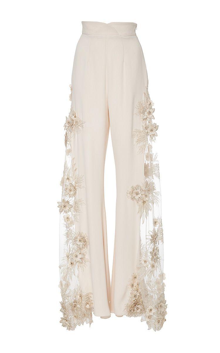 4596d2c46d Lana Mueller Malva Embellished Floral Applique Pants