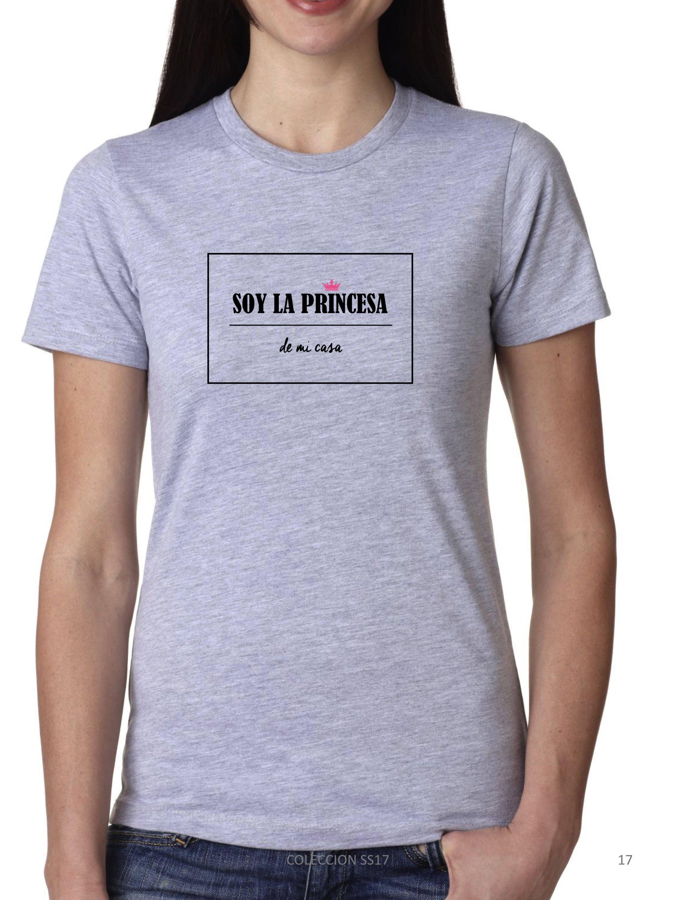 a0916220c Camiseta gris niña SOY LA PRINCESA de mi casa de DECHARCOENCHARCO en Elsy.  camisetas para