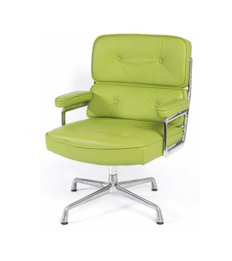 Wonderful Lime Green Leather Lobby Office Chair Inspired By Eames ES104   Onske   1