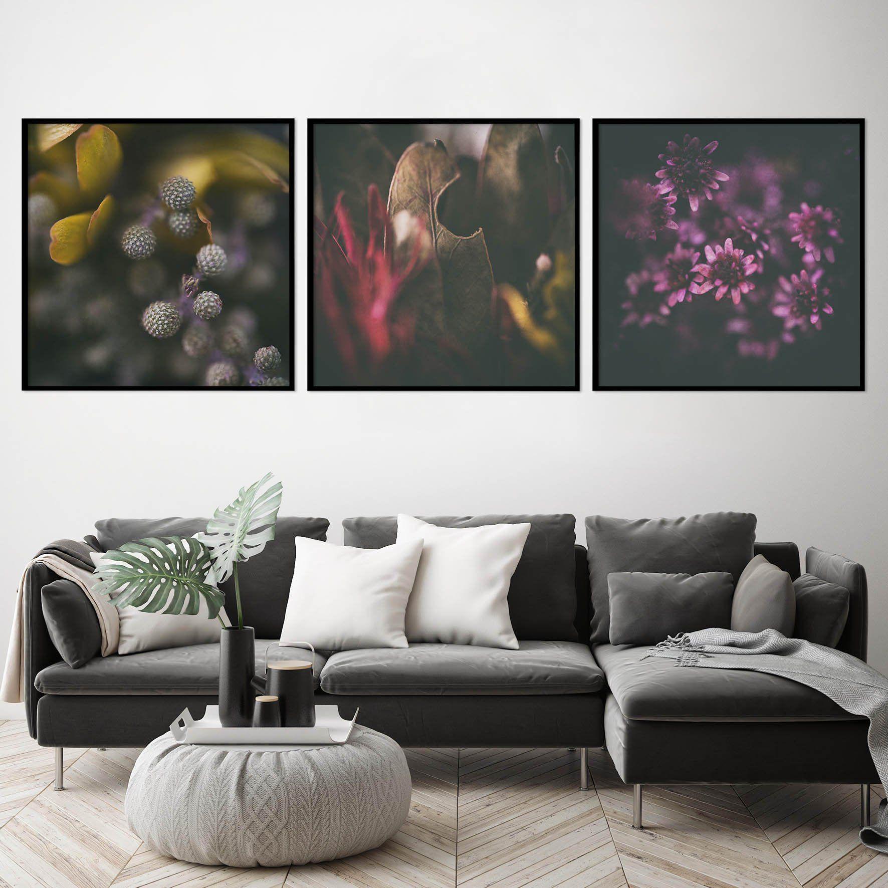 Moody Florals Print Set Photography Prints Art Square Wall Art Art Prints For Home