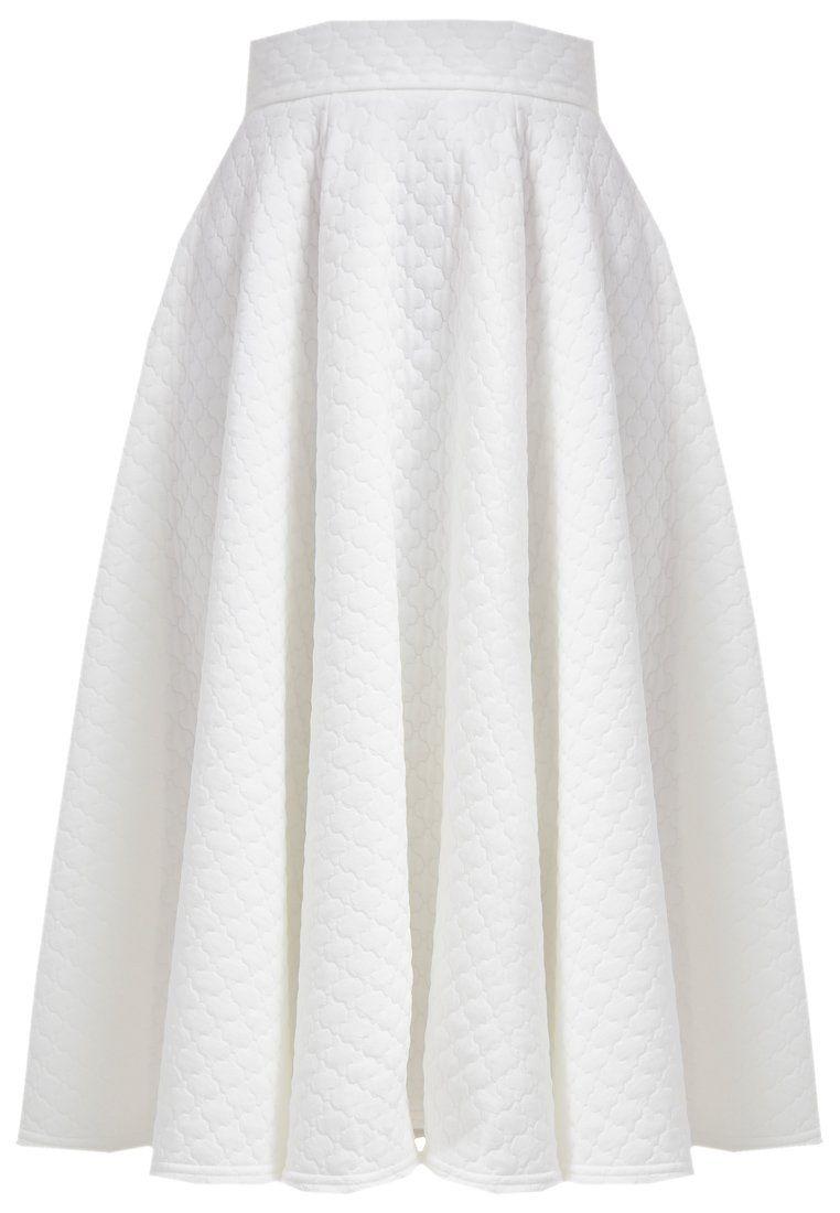 Closet Spódnica trapezowa biała midi ivory midi skirt