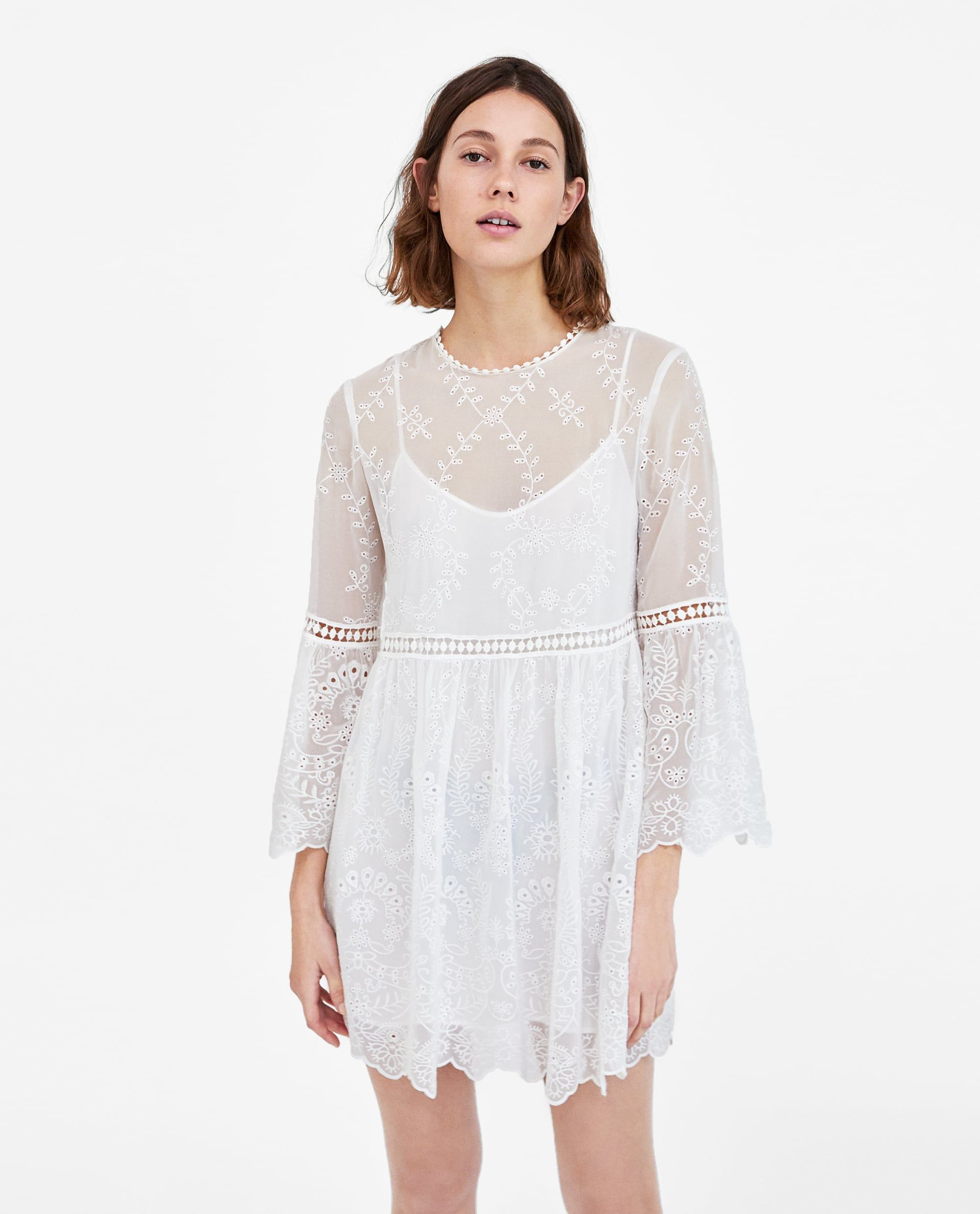 98041dd1 EMBROIDERED DRESS WITH PERFORATIONS DETAILS 3,990 RSD COLOR: Off-white  4786/078