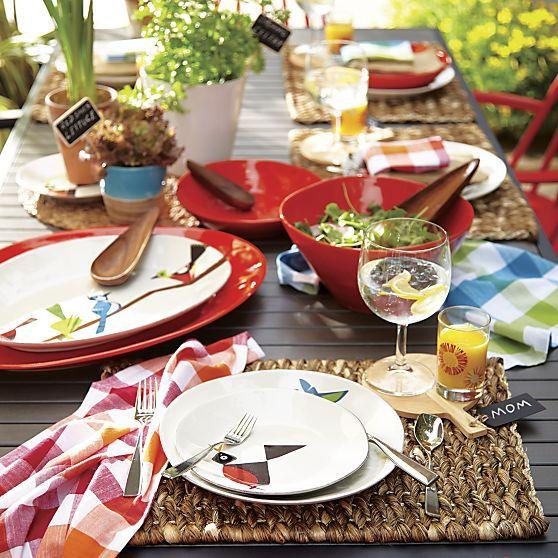 Kendari Placemat Dinner Plates Bird Plates Crate And Barrel