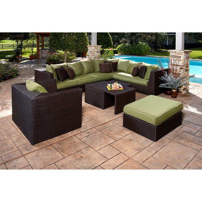 Marabella 8 Piece Modular Seating Set Outdoor Garden Furniture