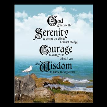 serenity prayer poster god grant me