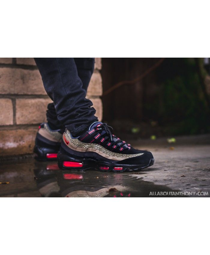 timeless design afb33 75a5b ... coupon for nike air max 95 safari black red shoes sale 41342 1a350 ...