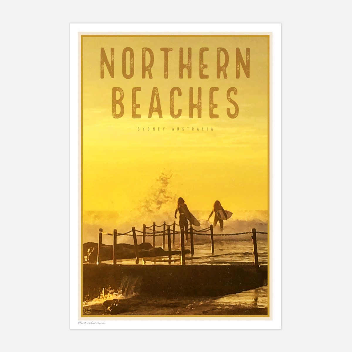Sydneys famous norther beaches. Seaside suburbs. prints and posters ...