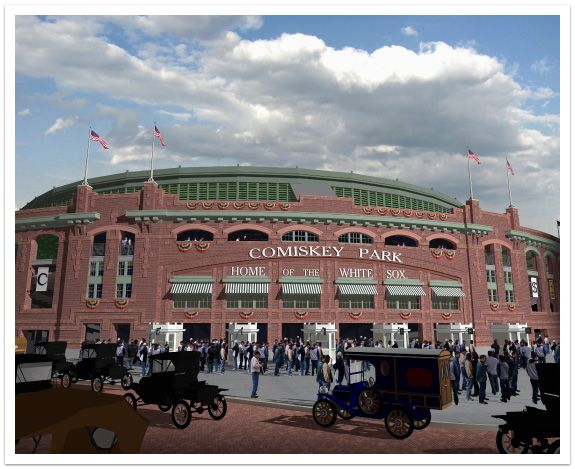 Classic Ballparks Comiskey Park Chicago White Sox Baseball Hall Of