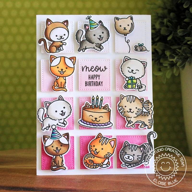 Sunny Studio PURRFECT BIRTHDAY Stamps Set Sunnies