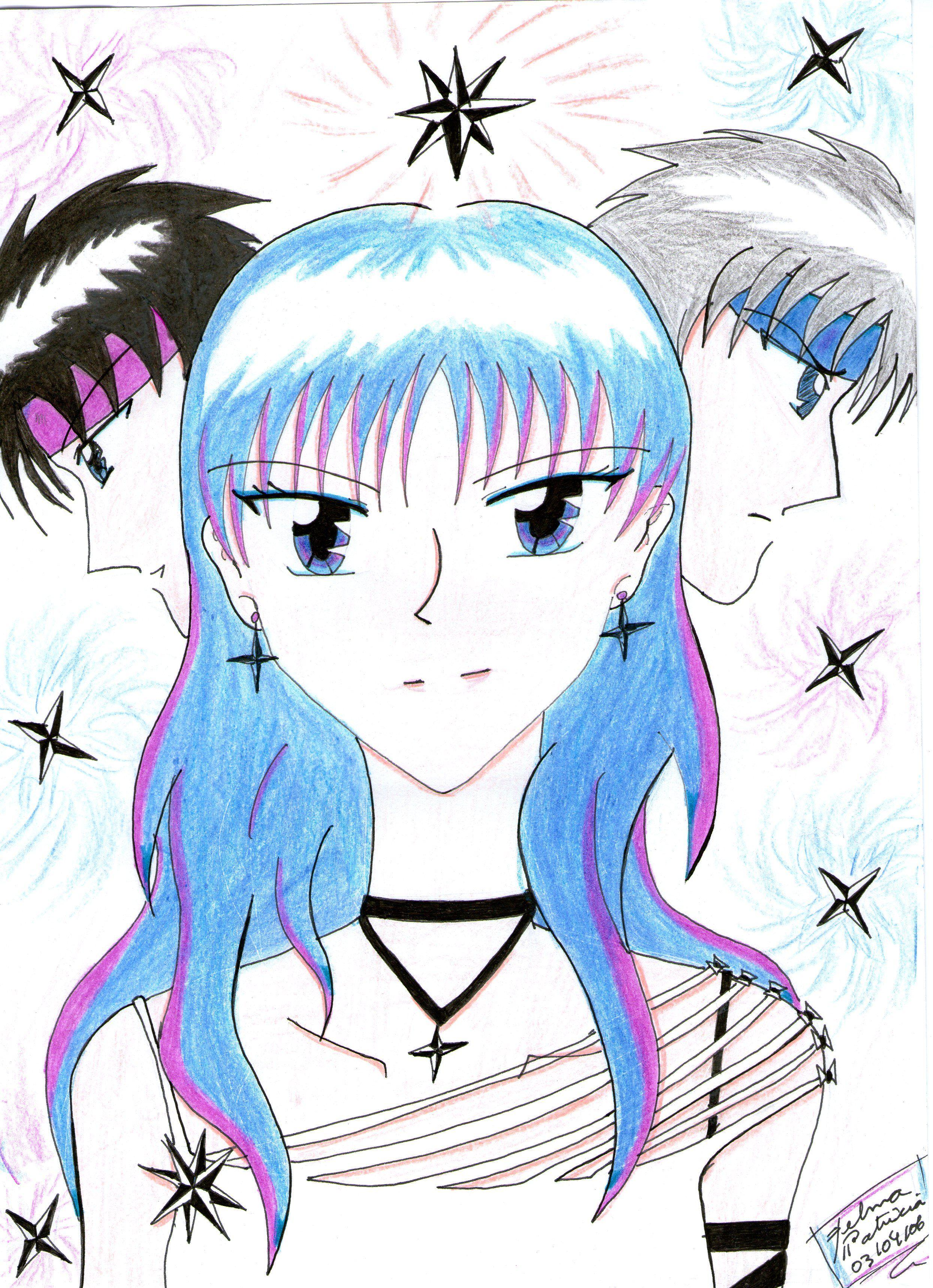 Desenho de personagens de uma história minha.