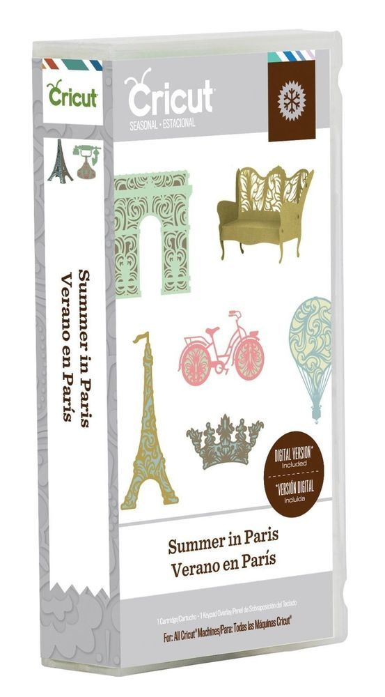 Cricut Summer In Paris Cartridge 2000317 #ProvoCraftCricut