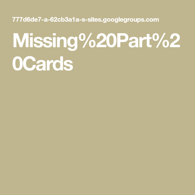 Missing20Part20Cards in 2020 Templates, Graphic