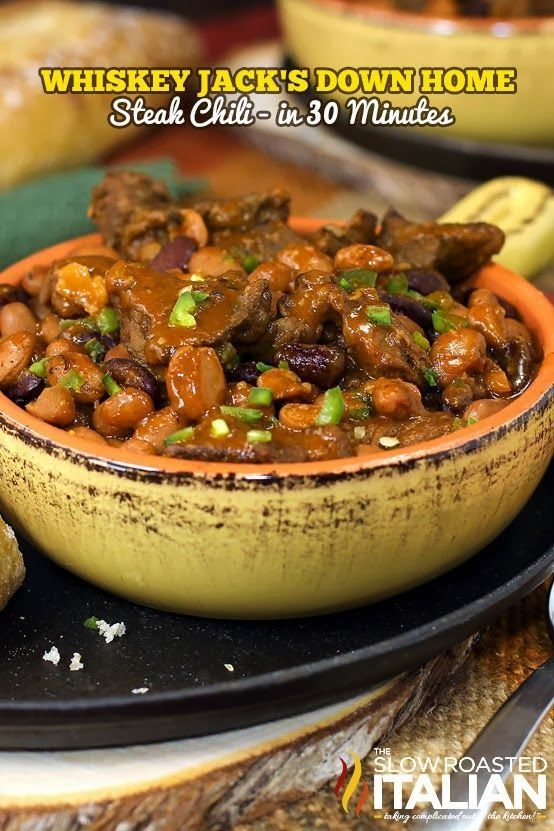 Ever Jack Daniel's Whiskey Steak Chili from