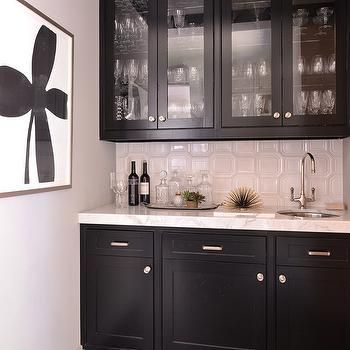 Best Black Glass Front Butler Pantry Cabinets Trendy Kitchen 400 x 300