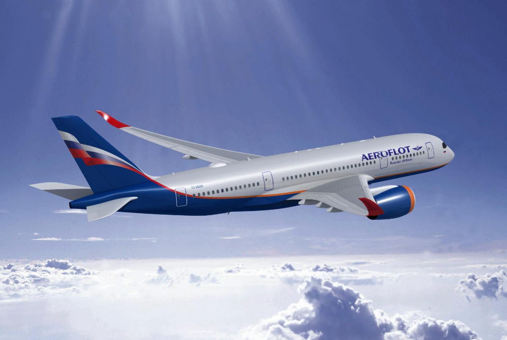 First A350900 of Aeroflot to debut on Moscow NewYork