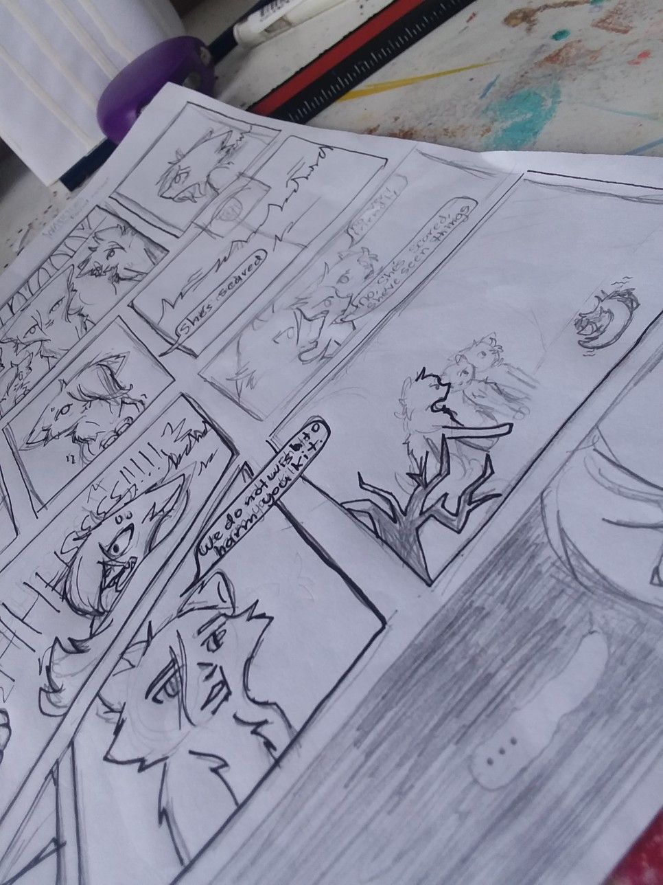 Finished The Sketching Of The Whole 1st Warrior Cat Comic Now I M