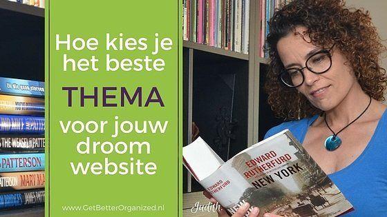 Kies het beste thema voor jouw droom website!