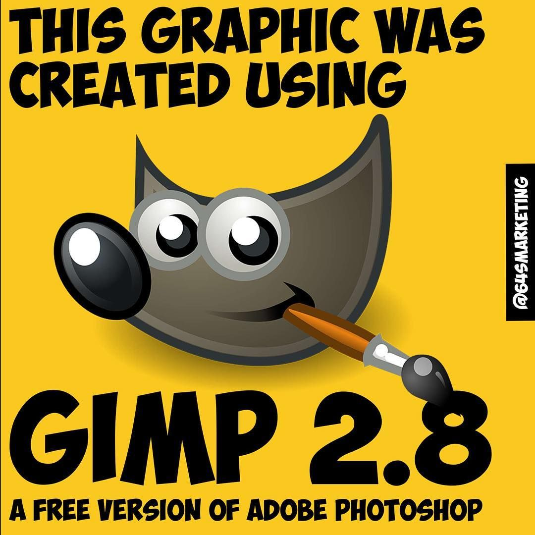Gimp is a free graphic design app for your PC/Mac. Gimp