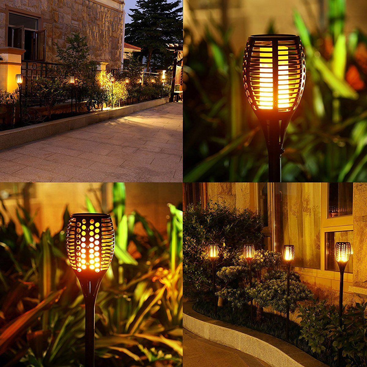 Solar Torch Lights For Patio Garden